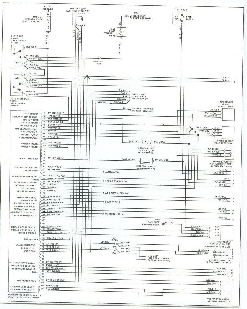 1994 Plymouth Acclaim Wiring Diagram Online Wiring Diagram